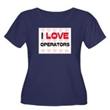 I LOVE OPERATORS Women's Plus Size Scoop Neck Dark