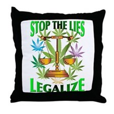 Stop the Lies Throw Pillow