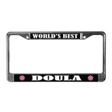 World's Best Doula License Plate Frame