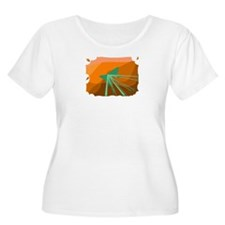 Desert-Inspired Women's Plus Scoop Neck T-Shirt