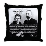 Humanity Marie Curie Throw Pillow