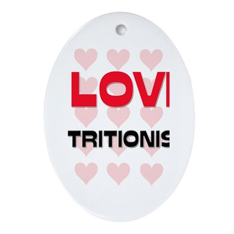 I LOVE NUTRITIONISTS Oval Ornament