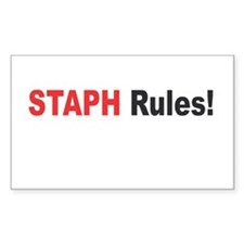 STAPH Rules Rectangle Sticker 10 pk)