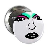 Drag Queen Stencil 2.25&quot; Button