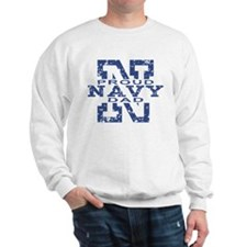 Proud Navy Dad Sweatshirt