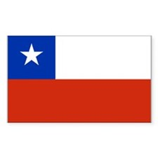 Chile Flag Rectangle Sticker 10 pk)