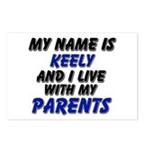 my name is keely and I live with my parents Postca