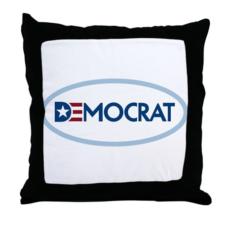 Democrat Throw Pillow