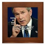 Terrorism George W. Bush Framed Tile