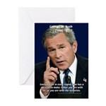 Terrorism George W. Bush Greeting Cards (Package o
