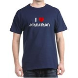 I LOVE JOHNATHON Black T-Shirt
