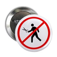 "Don't run with scissors! 2.25"" Button (10 pac"