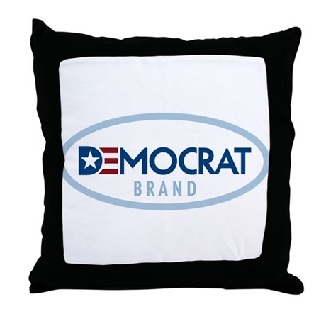 Democrat BRAND Throw Pillow