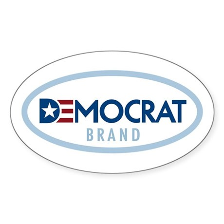 Democrat BRAND Oval Sticker (10 pk)