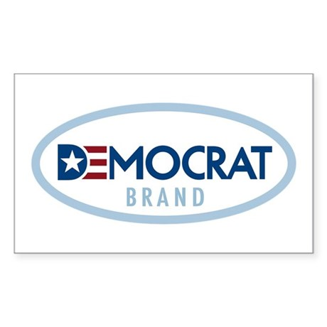 Democrat BRAND Rectangle Sticker 50 pk)