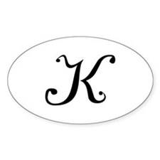 Initial K Oval Decal