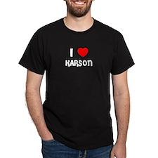 I LOVE KARSON Black T-Shirt