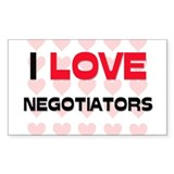 I LOVE NEGOTIATORS Rectangle Decal