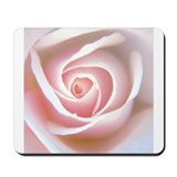 Light Pink Rose Heart Mousepad