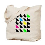Colorful Bunny Tote Bag