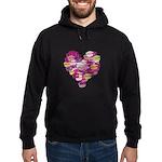 Heart of Kisses Hoodie (dark)
