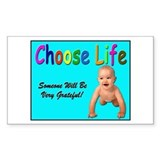 Choose Life for Pro Life Rectangle Decal