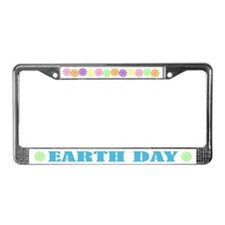 Pretty Earth Day License Plate Frame