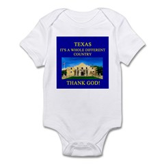 i love texas texans Infant Bodysuit