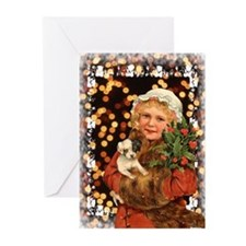 Vintage Christmas Greeting Cards (Pk of 10)