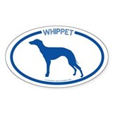 """Whippet"" - Oval Decal"