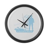 A Faithful Sailor Large Wall Clock