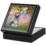 Garden / Miniature Schnauzer Keepsake Box