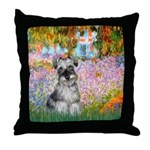 Garden / Miniature Schnauzer Throw Pillow