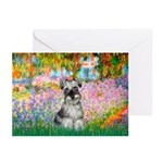 Garden / Miniature Schnauzer Greeting Cards (Pk of