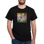Garden / Miniature Schnauzer Dark T-Shirt