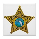 Citrus County Sheriff Tile Coaster