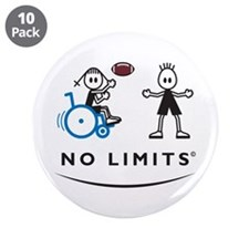 "Football Girl 3.5"" Button (10 pack)"