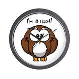 I'm a hoot! Wall Clock