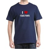 I LOVE KRISTIAN Black T-Shirt