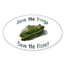 Save Green Treefrog Oval Sticker (50 pk)