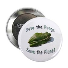 "Save Green Treefrog 2.25"" Button"