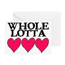 WHOLE LOTTA LOVE (HEARTS) Greeting Cards (Pk of 20
