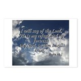 Psalm 91:2 Postcards (Package of 8)