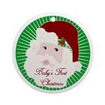 Santa Baby's First Christmas Ornament (Round)