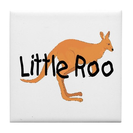 LITTLE ROO - BROWN ROO Tile Coaster