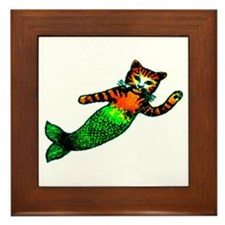 MERMAID KITTY Framed Tile