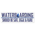 Waterboarding Bumper Sticker (10 pk)