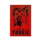 Obey the Yorkie! Rectangular Magnet