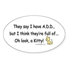 ADD Humor Oval Decal