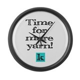 Time for more yarn [large] Wall Clock
